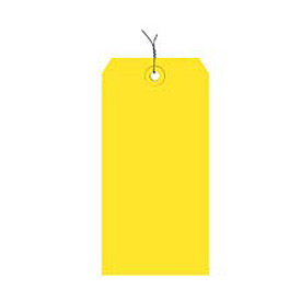 "#1 Yellow Wired Tag Pack 2-3/4"" x 1-3/8"" - 1000 Pack"