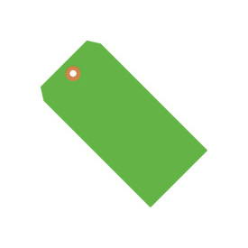 "#4 Green Fluorescent Tag Pack 4-1/4"" x 2-1/8"" - 1000 Pack"