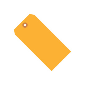 "#6 Orange Fluorescent Tag Pack 5-1/4"" x 2-5/8"" - 1000 Pack"