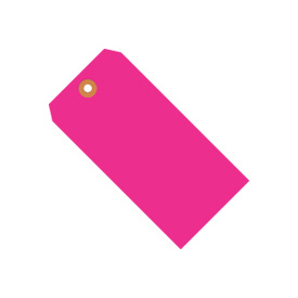 "#1 Pink Fluorescent Tag Pack 2-3/4"" x 1-3/8"" - 1000 Pack"