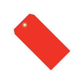 "#3 Red Fluorescent Tag Pack 3-3/4"" x 1-7/8"" - 1000 Pack"