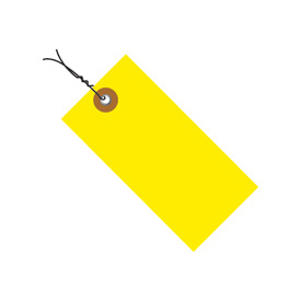 "#8 Wired Yellow Tyvek Tag 6-1/4"" x 3-1/8"" - 100 Pack"