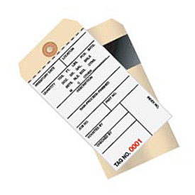 Inventory Tag 2 Part Carbon Style 4000 - 4499 - 500 Pack
