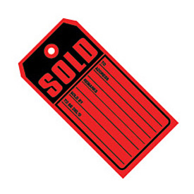 "#5 10 Part Sold Red 4-3/4"" x 2-3/8"" - 1000 Pack"