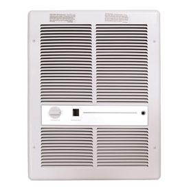 TPI Fan Forced Wall Heaters With Summer Fan Switch F3316T2SRPW - 4000W 208V White