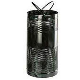 """Rubbermaid® H3 Towne Free Standing Receptacle, Black, 34 Gallon, 18""""Dia x 35""""H"""