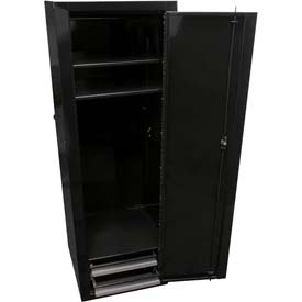"Homak 18"" Full-Height Side Locker w/ 2 Drawers - Black"