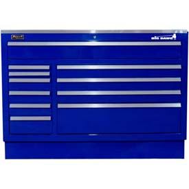 "Homak 46"" CTS 11 Drawer Base - Blue"