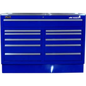 "Homak 46"" CTS Double Bank Drawers Base - Blue"