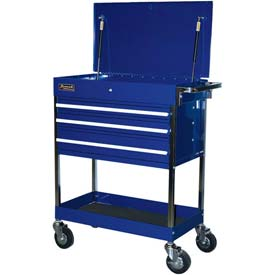 "Homak BL05500200 34-1/2"" Professional 3 Drawer Blue Service Cart  by"