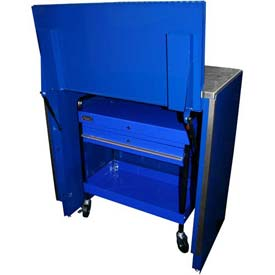"Homak 46"" Service Cart Locker - Blue"