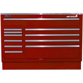 "Homak 46"" CTS 11 Drawer Base - Burgundy"