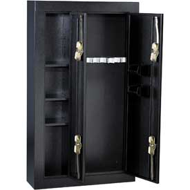 Safes security safes gun homak 8 gun double door for 10 gun double door steel security cabinet