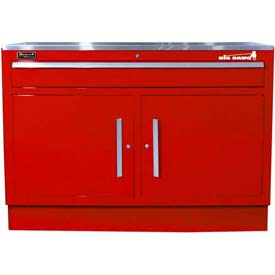 "Homak 46"" CTS 2 Door 1 Drawer Base - Red"