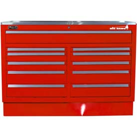 "Homak 46"" CTS Double Bank Drawers Base - Red"
