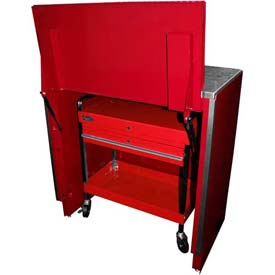 "Homak 46"" Service Cart Locker - Red"