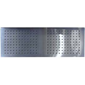 "Homak 46"" CTS Stainless Steel Perforated Backsplash"