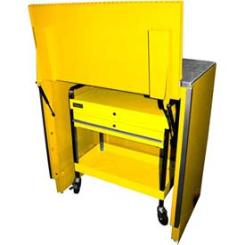 "Homak 46"" Service Cart Locker - Yellow"