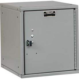 Hallowell HC121212-1PL-PL Cubix Modular Locker, Padlockable, 12x12x12, Plain Door, Platinum