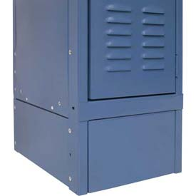 "Hallowell KCSB18MB Steel Locker Accessory, Closed Side Base 18""D x 6""H  707 Marine Blue"