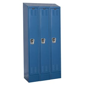 Hallowell URB3288-1ASB-MB Ready-Built II Locker Single Tier 3 Wide - 12x18x84 Blue