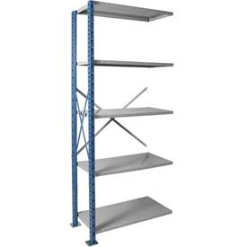 "Hallowell H-Post High Capacity Shelving 36""W x 24""D x 123""H 5 Adj Shelves Open Style, Shelf Add-On"
