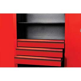 """Hallowell FKSCD36-3RR-HT Fort Knox Cabinet Drawer Kit - 3 Drawer, 36""""W x 24""""D x 18""""H, Red"""