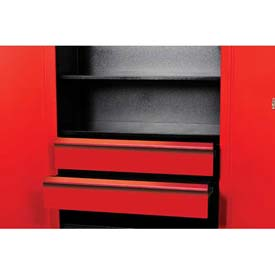 "Hallowell FKSCD48-2RR-HT Fort Knox Cabinet Drawer Kit - 2 Drawer, 48""W x 24""D x 15""H, Red"
