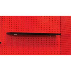 "Fort Knox Pegboard Shelf, 30""W x 5""D x 3/4""H, Black"