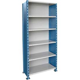 "Hallowell H-Post High Capacity Shelving 48""W x 24""D x 123""H 6 Adj Shelves Closed Style-Shelf Starter"