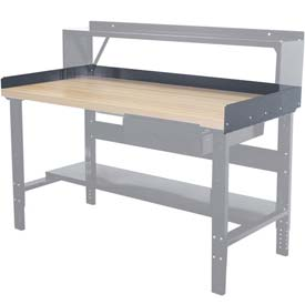 "Hallowell Workbench Back & End Stop Kit, 72""W x 30""D x 6""H"