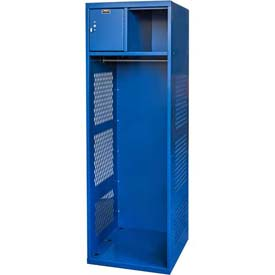 Hallowell KSBN482-1C-GS Gear Locker, 24x18x72, w/Top Shelf, Security Box, Grand Slam, Unassembled