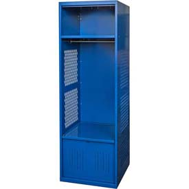 Hallowell KSNF482-1A-C-GS Gear Locker, 24x18x72, w/Top Shelf, Foot Locker, Grand Slam, Assembled
