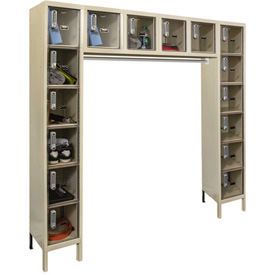 Hallowell UESVP1788 Safety-View Plus Locker w/DigiTech Locks 12x12x12 16-Person Parchment, Assembled
