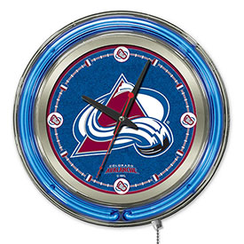"Buy Colorado Avalanche Double Neon Ring 15"" Dia. Logo Clock"