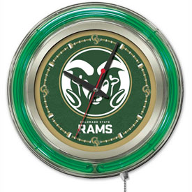 "Buy Colorado State University Double Neon Ring 15"" Dia. Logo Clock"