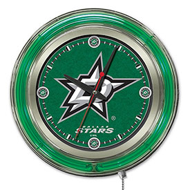 "Buy Dallas Stars Double Neon Ring 15"" Dia. Logo Clock"