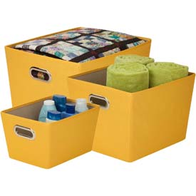 decorative storage bin with handles 3 size small medium large kit - Decorative Storage Bins