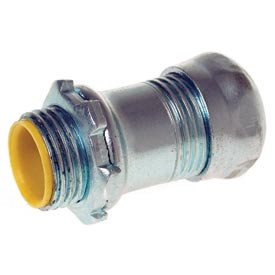 """Hubbell 2162RAC EMT Rigid/IMC Set Screw Connector 3"""" Trade Size Insulated - Steel"""
