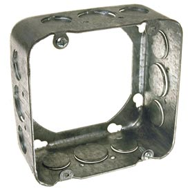 "Hubbell 262 Square Extension 4-11/16"", 2-1/8"" Deep, 1/2"" & 3/4"" Side Knockouts - Pkg Qty 25"
