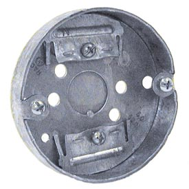 """Hubbell 287 Concrete Ring, 4"""" Deep, 1/2""""& 3/4"""" Double Row Knockouts, For Ceiling Fan - Pkg Qty 50"""