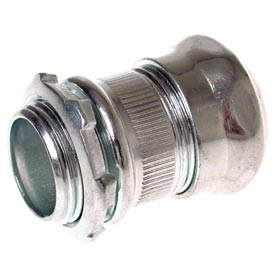 "Hubbell 2906rt Emt Compression Connector Raintight 1-1/2"" Trade Size - Steel - Pkg Qty 10"