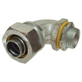 "Hubbell 3423 90 Degree Liquidtight Connector 3/4"" Trade Size - Pkg Qty 100"
