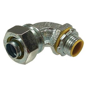 "Hubbell 3542 90 Degree Liquidtight Connector Insulated 1/2"" Trade Size - Pkg Qty 100"