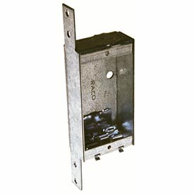 "Hubbell 404 Shallow Switch Box, 1""D, 1/2"" End Knockout, Nmsc Clamps, Stud Bracket - Pkg Qty 25"
