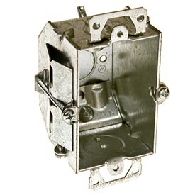 """Hubbell 487 Switch Box 3""""X2"""", 2-1/4""""D, Gngable, Nmsc Clamps,Beveled Corners,Old Work Clip - Pkg Qty 20"""