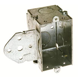 "Hubbell 502 Switch Box 3""X2"", 2-1/2"" Deep, Gangable, 1/2"" End Knockouts, Stud Bracket - Pkg Qty 10"
