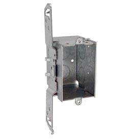 "Hubbell 505 Switch Box 3""X2"", 2-1/2""D, Gangable, 3/4"" End Knockouts, Stud Bracket - Pkg Qty 50"