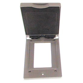 Hubbell 5104-0 Single Gang Vertical Device Mount Cover Gfci Gray - Pkg Qty 24