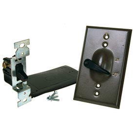 Hubbell 5121-2 Single Gang Weatherproof Vertical Mount Switch Cover Lever Switch Bronze - Pkg Qty 24
